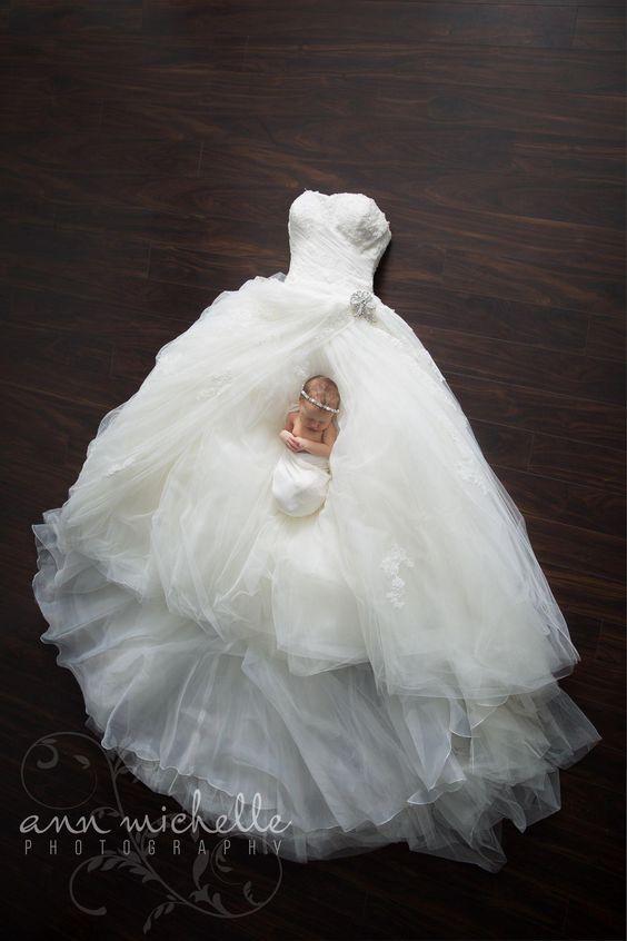 Trouwjurk en zwanger