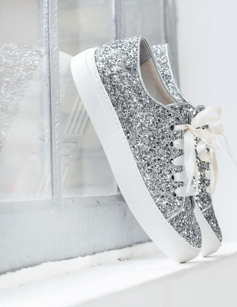 Bruidssneaker met glitter